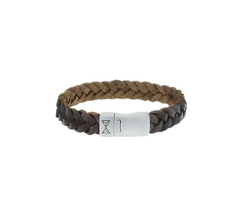 Iron Big Wave Brown Bracelet