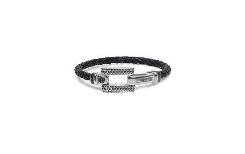 120 Galang Leather Black Bracelet