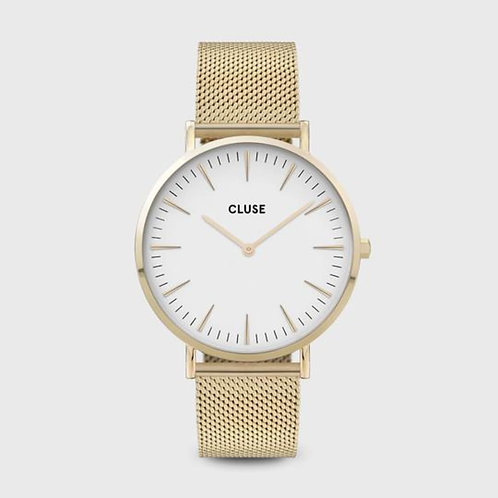 La Bohème Mesh Gold White/Gold 38 MM
