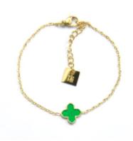 Armband Klavertjevier Summer Green
