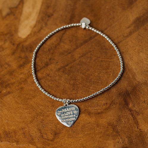Bracelet tiny Wishes Two hearts