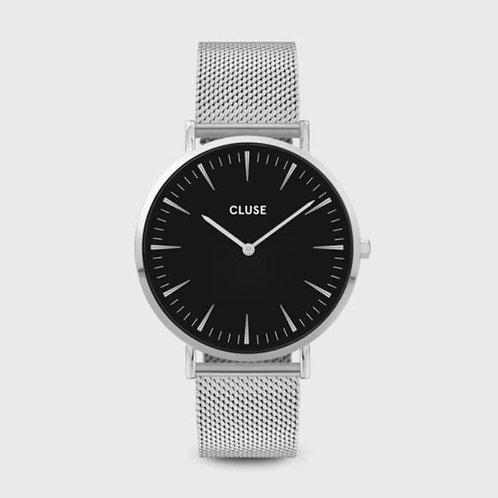 La Bohème Mesh Silver Black/Silver 38 MM