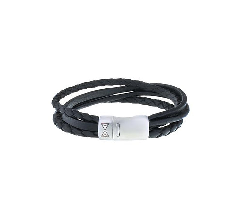 Iron Four String Black Bracelet