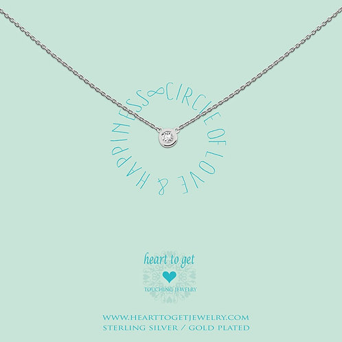 Circle of love and happiness necklace