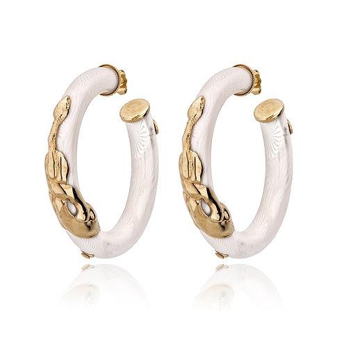 Cobra Hoop Earring