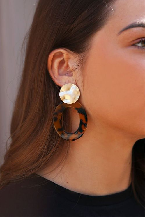 Bruine oorhangers ovaal