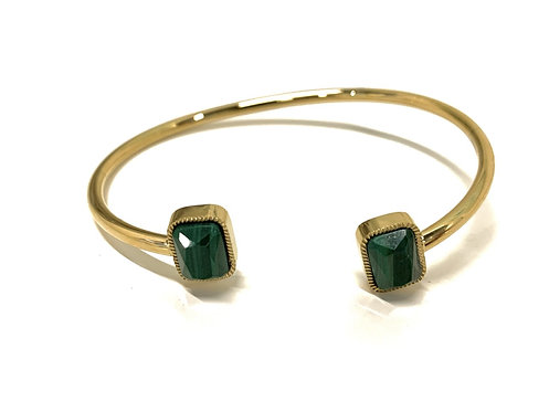 Armband groene stenen