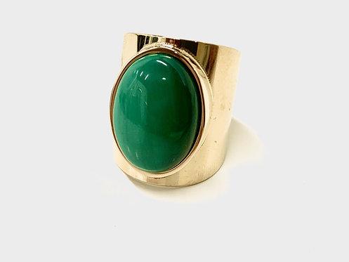 Ring groene steen