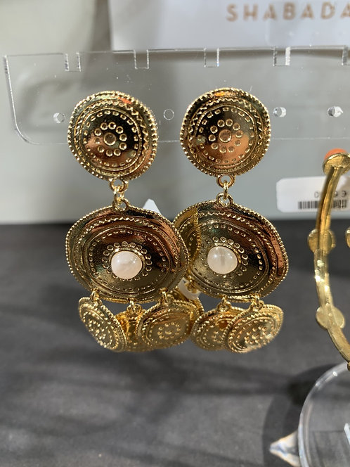 Shabada Earring Rozenkwarts Goud 1