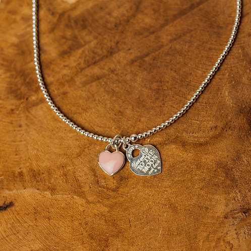 Necklace Tarquina Azul To The Moon Pink
