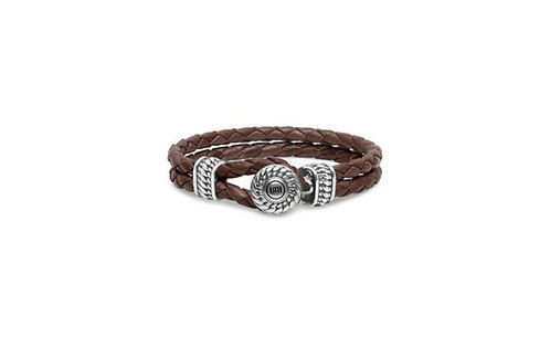 220 Ben Leather Knot Brown Bracelet