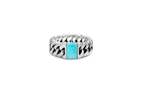 603 Chain Turquoise Steen Ring