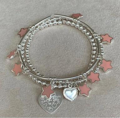 Bracelet Set Garcia Pink