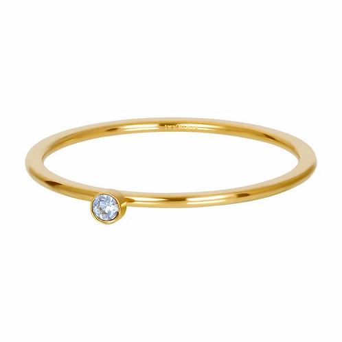 Vulring Light Sapphire 1 Stone Goudkleurig 1mm