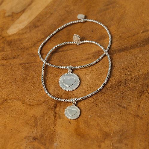Bracelet set Mother & Daughter Circle of Love