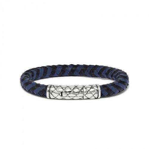 423 Armband Zwart-Blauw Crossline