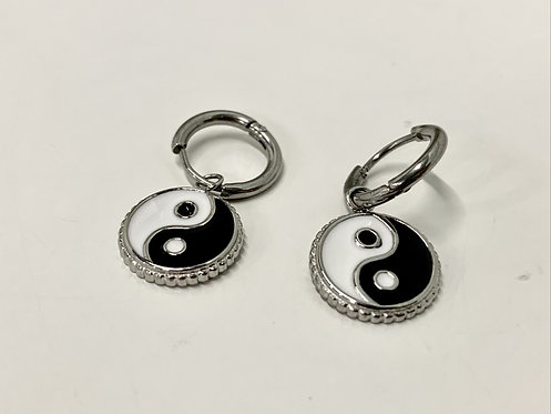 Oorbellen yin & yang