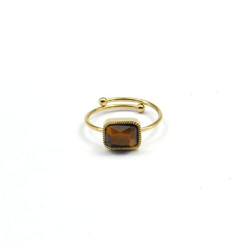Ring Tiger Eye Stone