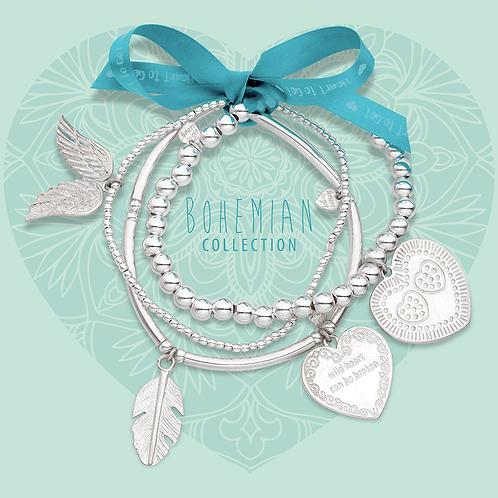 Heart to Get elastische armband set 'liefde'