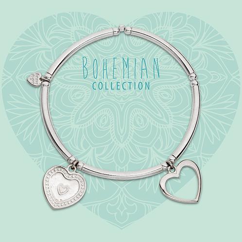 Heart to Get elastische armband twee hartjes