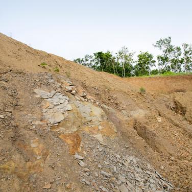 珪藻土の採掘現場
