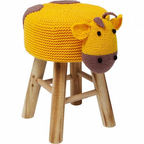 GIRO GIRAFFE - onweerstaanbaar kinderkrukje in hout en textiel (Kare Design)