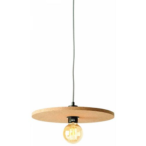 ALGARVE - hanglamp uit natuurlijke kurk  met zwart-wit 'strijkijzersnoer'