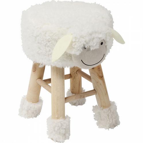 LAMMETJE LOLA - schattig kinderkrukje in hout en textiel (Kare Design) foto's