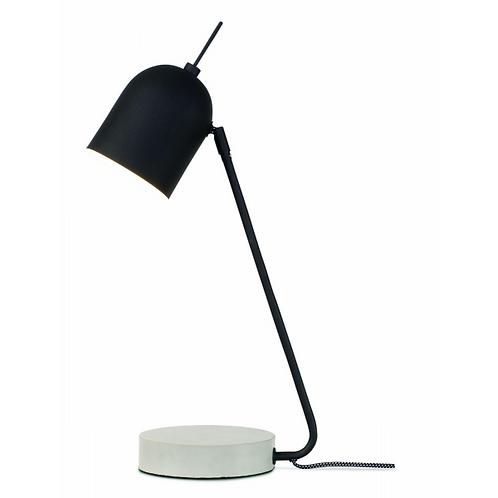 MADRID - 'Ronde' bureau- of tafellamp uit zwart metaal met betonnen voet