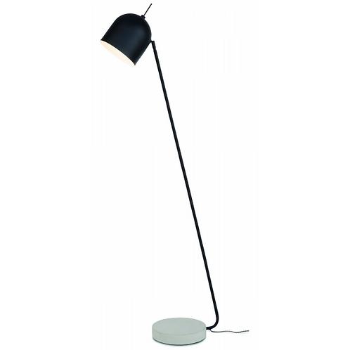MADRID - 'Ronde' staanlamp in zwart metaal en met betonnen voet