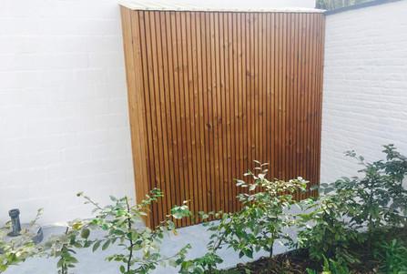 Woning Gent Wolterslaan tuinkast hout