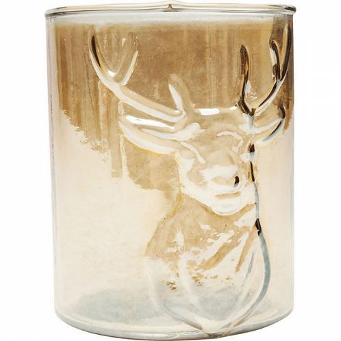 DEAR AMBER DEER glazen theelichthouder (Kare Design)