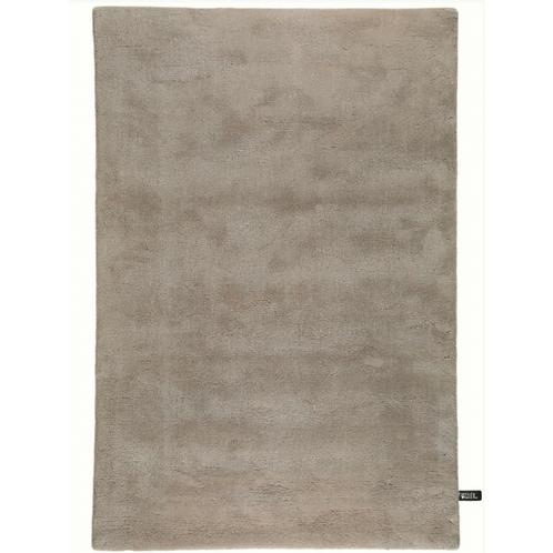 PURE - Zacht effen ecru hoogpolig tapijt in wol en viscose (Benuta)