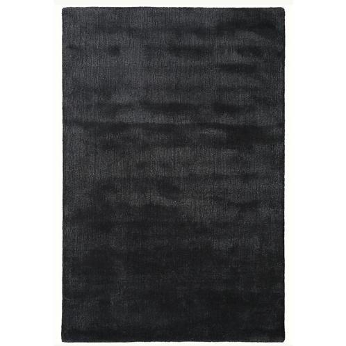 PURE - zacht effen donkerblauw hoogpolig tapijt in wol en viscose (Benuta)