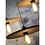 Thumbnail: ALGARVE - hanglamp uit donkerbruine  kurk met zwart-wit 'strijkijzer'snoer