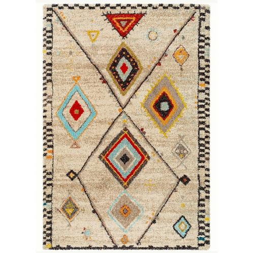 TIKKA TOO hoogpolig tapijt met veelkleurig motief (Benuta)