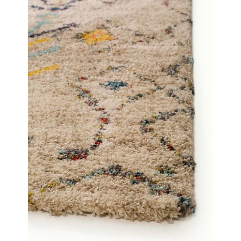 TIKKA hoogpolig tapijt met veelkleurig motief (Benuta)