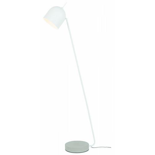 MADRID- 'Ronde' staanlamp in wit metaal en met betonnen voet