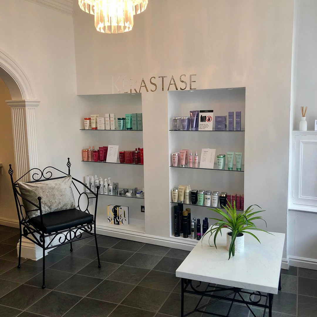 Product Shelves in Reception