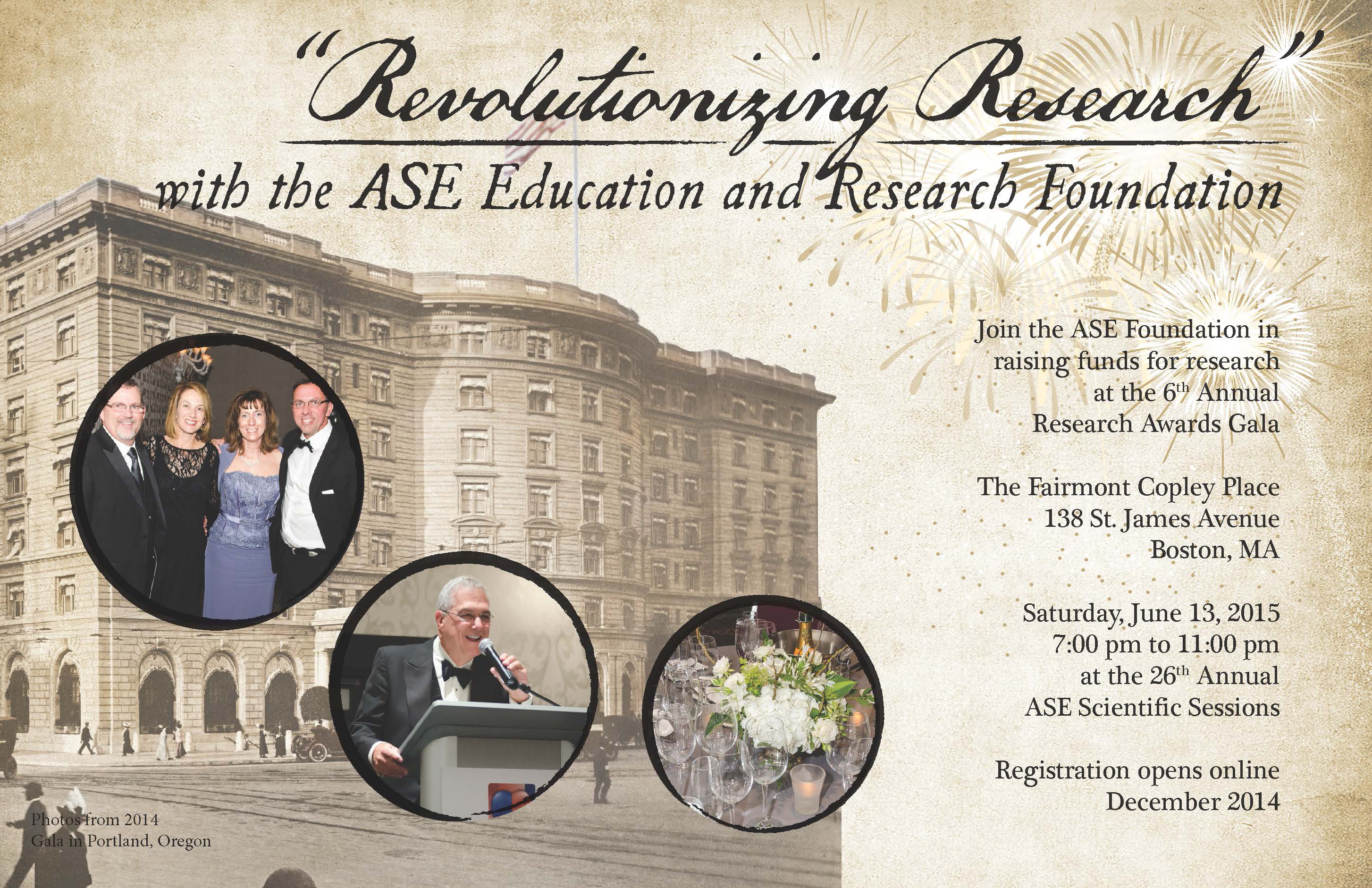 ASE Foundation 2015 Gala ad