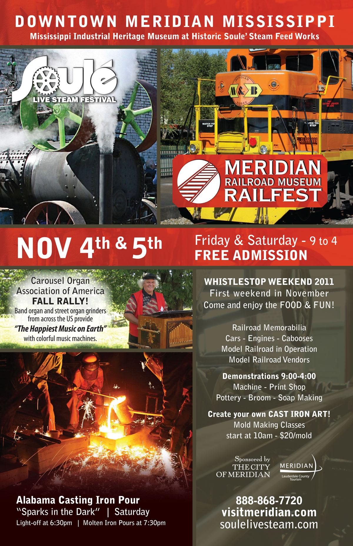 Meridian Railfest/Steamfest Poster