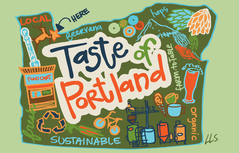Taste of Portland poster art