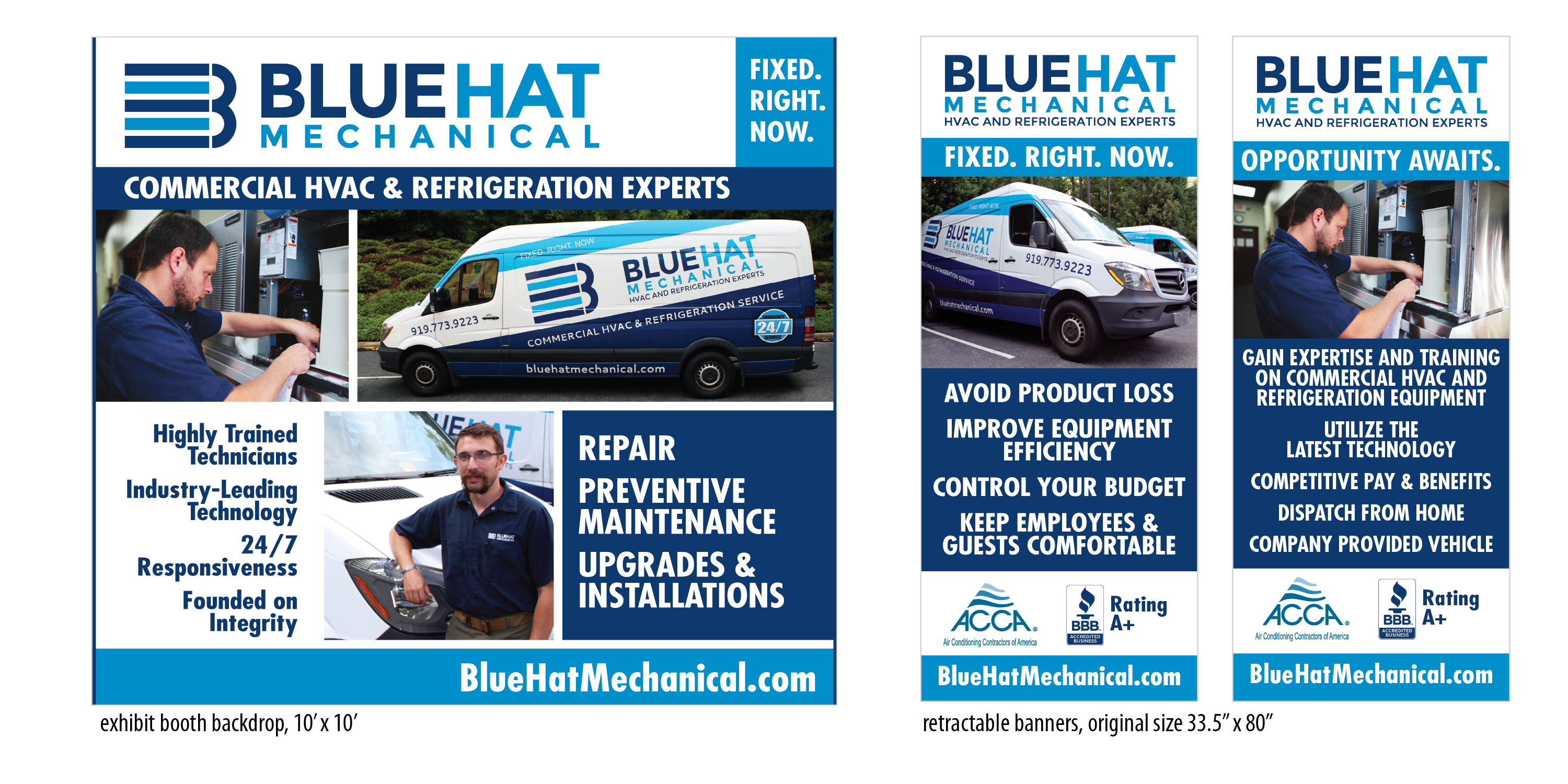 Blue Hat Mechanical signage