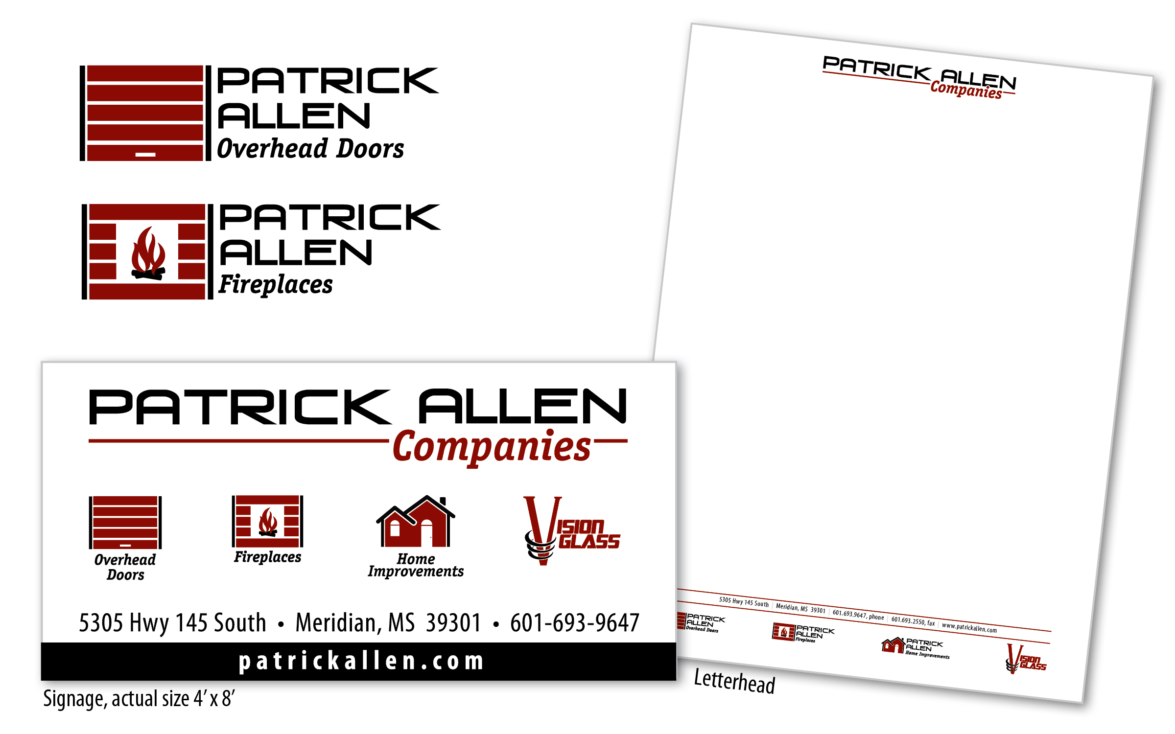Patrick Allen Companies Branding