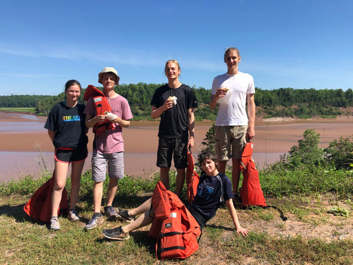 Leaving the tidal bore for the kids