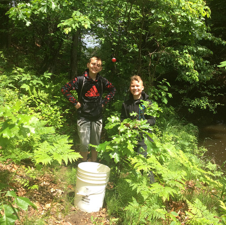 5-Joey and Toby Fishing on Wheeler Drain
