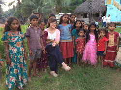 Farra spends time with the kids