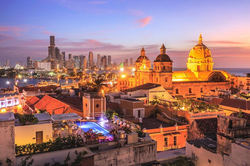 Night View of Cartagena de Indias, Colom