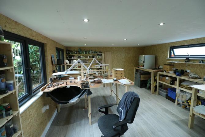 Garden Room Workshop with Unique OSB Walls
