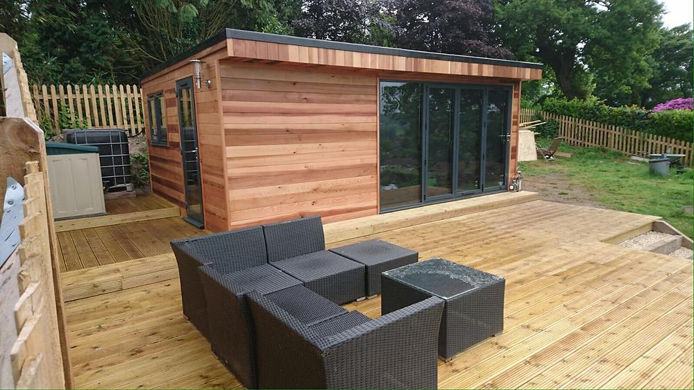 Garden Room with Decking Sussex